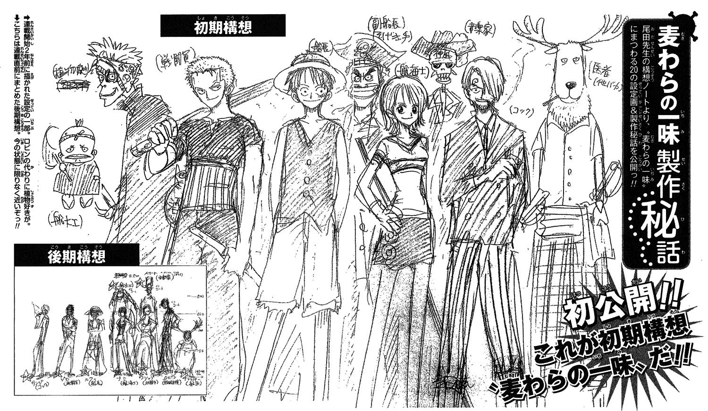 One Piece – Ecco le prime bozze della mitica ciurma