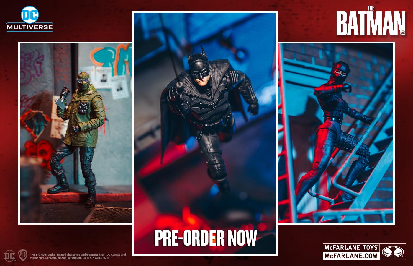 The Batman, le action figure approdano nella DC Multiverse Line di McFarlane Toys